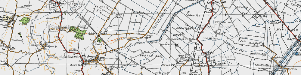 Old map of Tick Fen in 1920