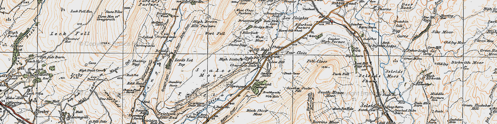 Old map of Winterscales Beck in 1925