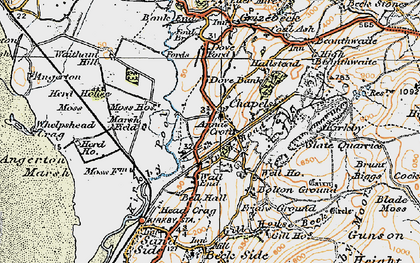 Old map of Chapels in 1925