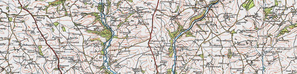 Old map of West Peeke in 1919
