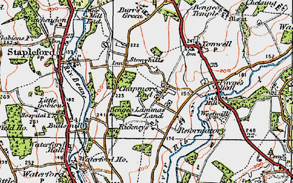 Old map of Chapmore End in 1919