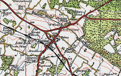Old map of Charing in 1921