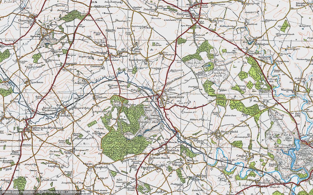 Old Map of Historic Map covering Lee's Rest in 1919