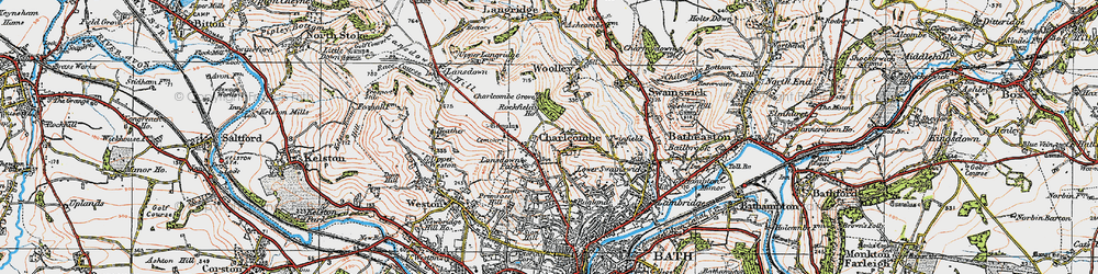 Old map of Charlcombe in 1919
