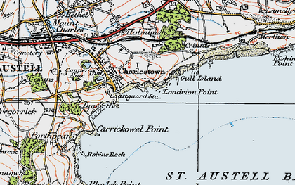 Old map of Charlestown in 1919
