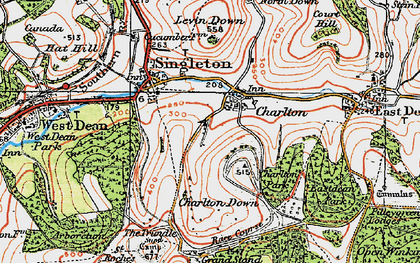 Old map of Charlton in 1919