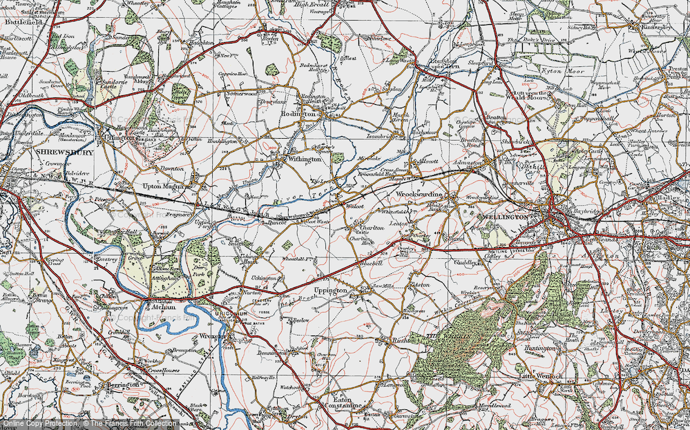 Old Map of Historic Map covering Lees, The in 1921
