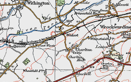 Old map of Lees, The in 1921