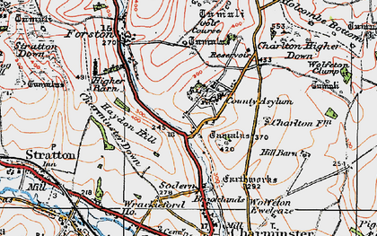 Old map of Wolfeton Clump in 1919