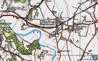 Old map of Charlton Mackrell in 1919