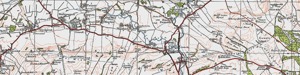 Old map of Wilsford Hill in 1919