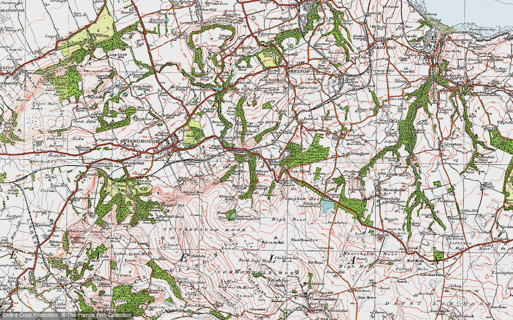 Old Map of Historic Map covering Westworth Wood in 1925
