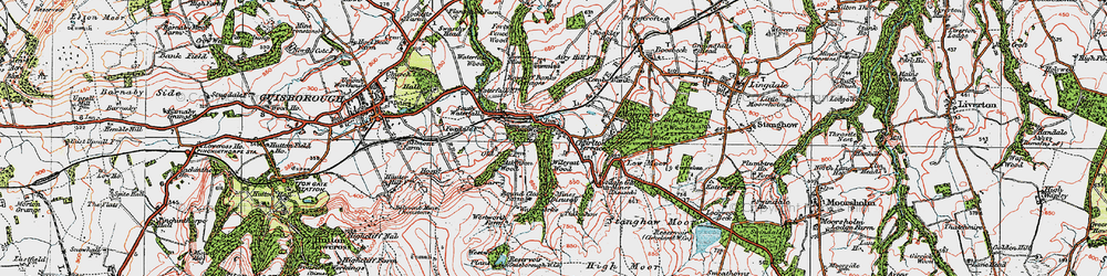 Old map of Westworth Wood in 1925