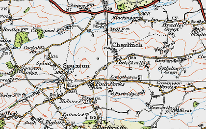 Old map of Ashford Resr in 1919