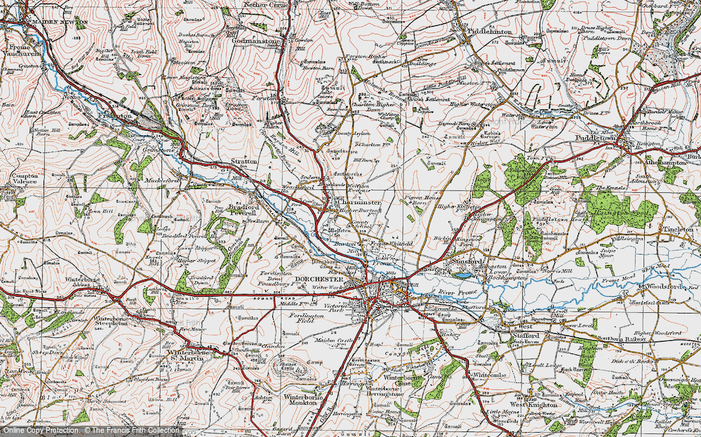 Old Map of Historic Map covering Leap Gate in 1919