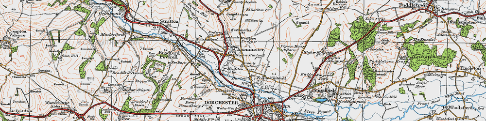 Old map of Wolfeton Ho in 1919