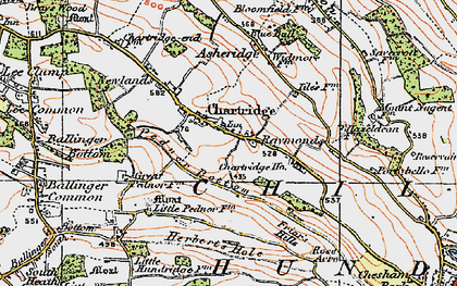 Old map of Chartridge in 1920