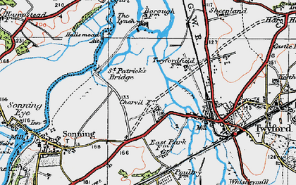 Old map of Charvil in 1919