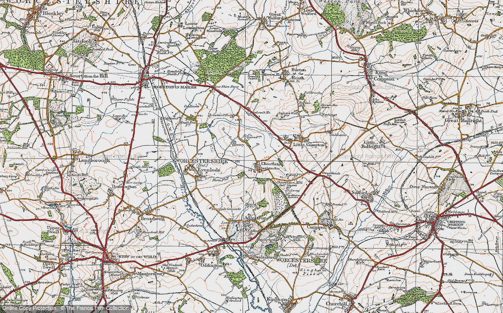 Old Map of Chastleton, 1919 in 1919