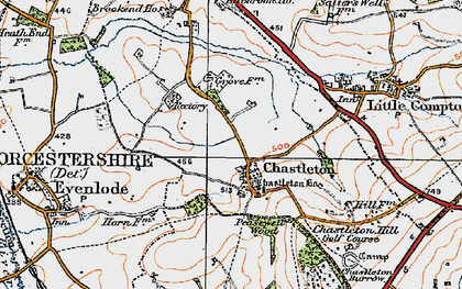 Old map of Chastleton in 1919