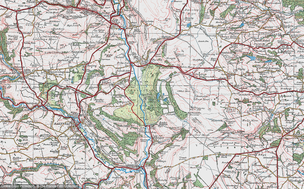 Old Maps of Chatsworth House Francis Frith