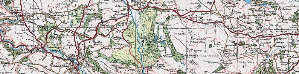 Old map of Chatsworth House in 1923