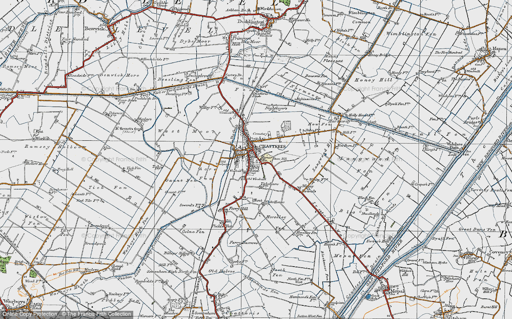 Old Map of Chatteris, 1920 in 1920