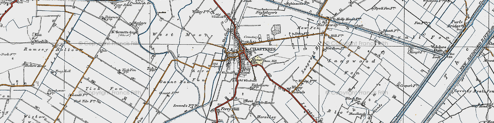 Old map of Chatteris in 1920