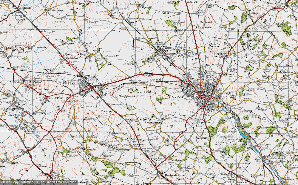 Old Map of Chaul End, 1920 in 1920