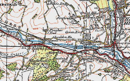Old map of Chaulden in 1920