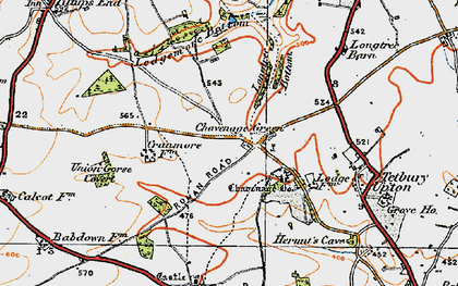 Old map of Ledgemore Bottom in 1919