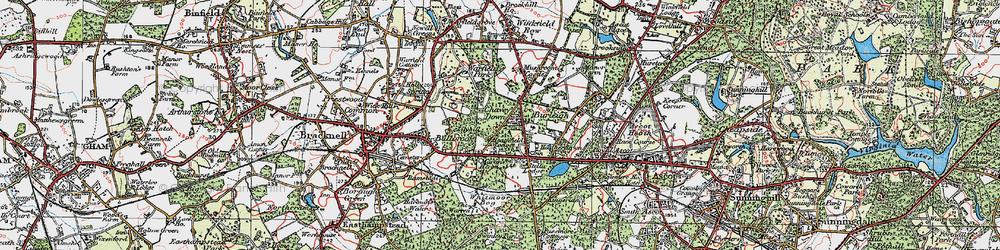 Old map of Whitmoor Bog in 1919