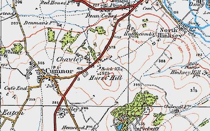 Old map of Whitebarn in 1919