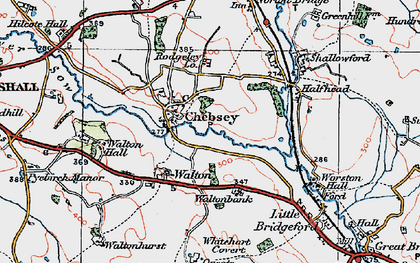 Old map of Chebsey in 1921