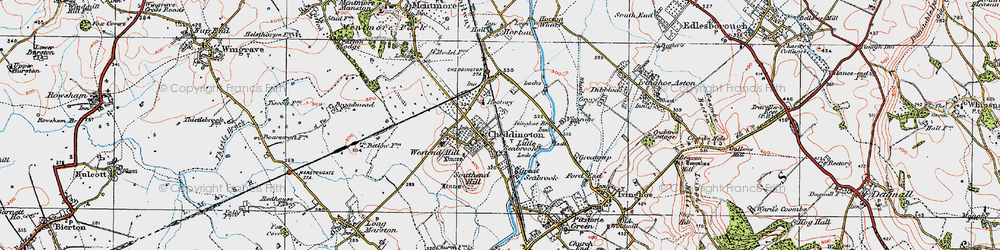 Old map of Westend Hill in 1920