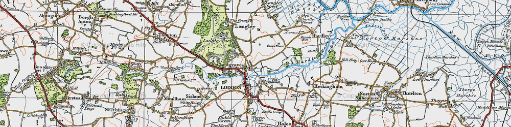 Old map of Langley School in 1922