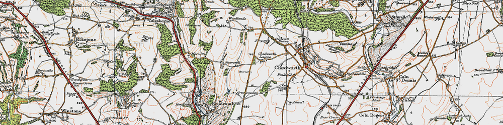 Old map of White Way in 1919