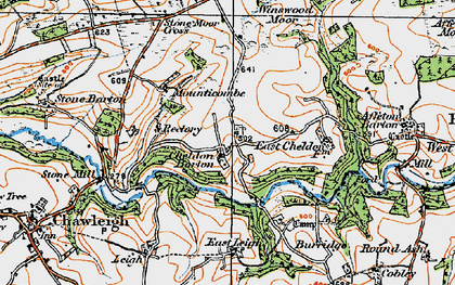 Old map of Winswood Moor in 1919