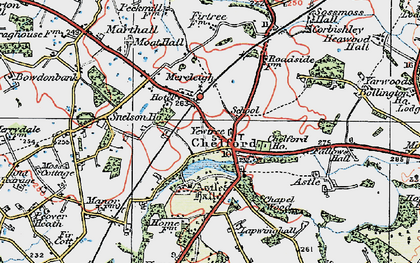 Old map of Astle Hall in 1923