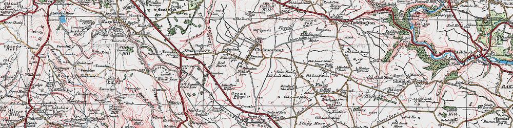 Old map of Chelmorton in 1923