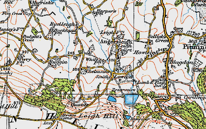 Old map of Leigh Hill in 1919