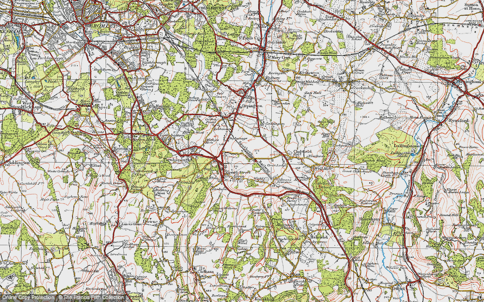 Old Map of Chelsfield, 1920 in 1920