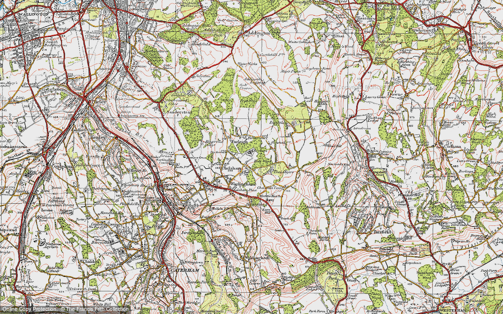 Old Map of Chelsham, 1920 in 1920