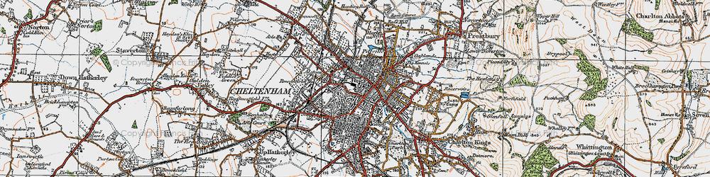 Old map of Cheltenham in 1919