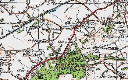 Old map of Backwell Hill Ho in 1919