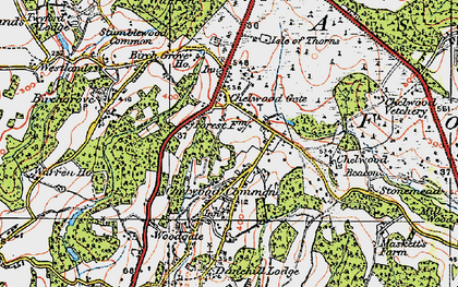 Old map of Chelwood Gate in 1920