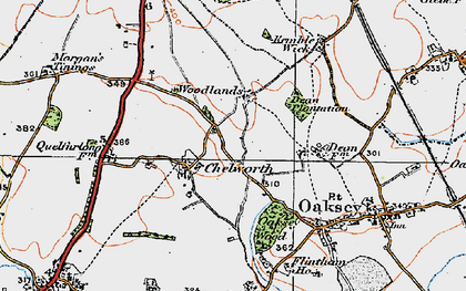 Old map of Woodlands in 1919