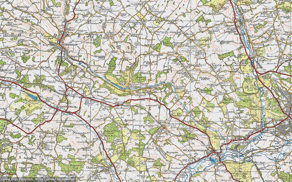 Old Map of Chenies, 1920 in 1920