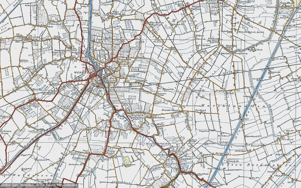 Old Map of Historic Map covering Banyer Hall in 1922