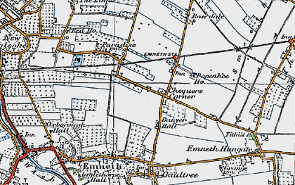 Old map of Banyer Hall in 1922